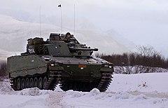 Norwegian CV9030N in snow