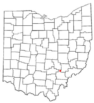 Glouster, Ohio - Image: OH Map doton Glouster