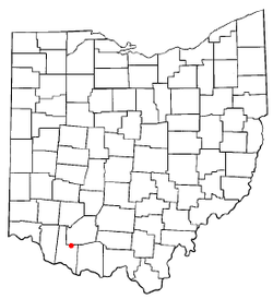 Location of Sardinia, Ohio
