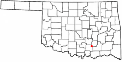 Location of Bromide, Oklahoma