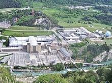 Vue aérienne du complexe de l'Office national d'études et de recherches aérospatiales (ONERA) à Avrieux