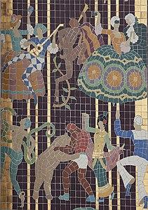 Oakland Paramount facade mosaic detail 2