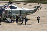 Obama departs JBA, stops to pose for group photo 150504-F-WU507-135.jpg