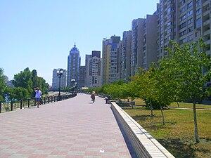 Obolonskyi District - Image: Obolon embankment