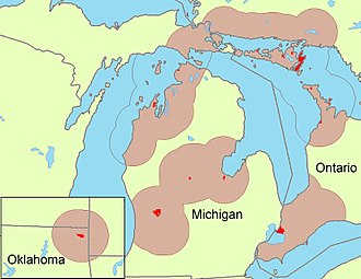 Odawa - Odawa group areas.