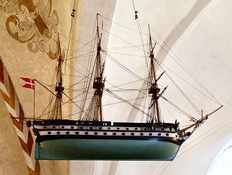 Battle of Zealand Point - Image: Odden Kirke indre kirkeskib Prinds Christian Frederik
