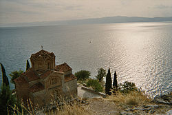 The Church of St. John at Kaneo above the lake