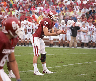 2009 Oklahoma Sooners football team - Redshirt freshman quarterback Landry Jones after taking over for an injured Sam Bradford early in the 2009 season.