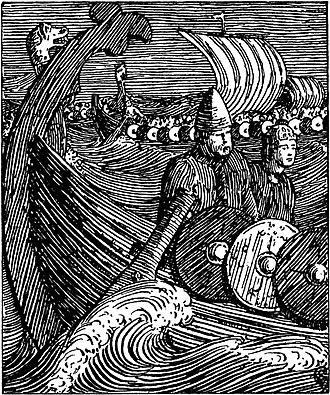 Halfdan Egedius - Image: Olav den helliges saga Olav og Rane i viking H. Egedius