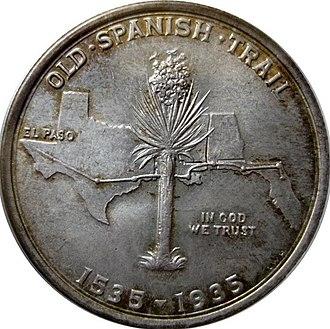 Old Spanish Trail half dollar - Image: Old Spanish Trail half dollar reverse
