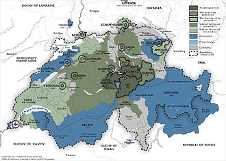 Valais - The Old Swiss Confederacy from 1291 to the sixteenth century