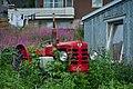 Old red tractor in Mefjordvær, Senja, Troms, Norway, 2014 August.jpg