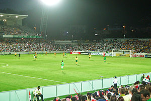 Australia national under-23 soccer team - The 'Olyroos' at Bluetongue Stadium during 2007