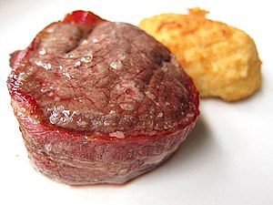Beefsteak - Filet Mignon wrapped in bacon