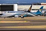 Oman Air, A4O-SF, Boeing 787-9 Dreamliner (43687231654).jpg