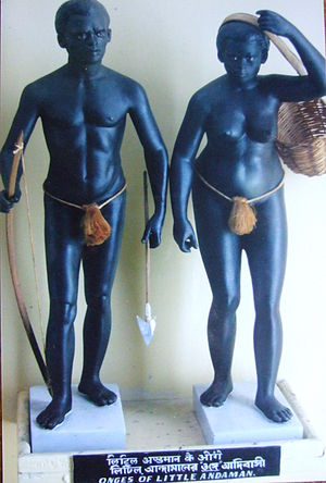 Onge - A depiction of Onge people in Kolkata Museum