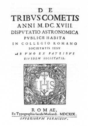 Orazio Grassi - De Tribus Cometis