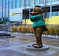 Oregon Duck in Front of Matthew Knight Arena (27320493919).jpg