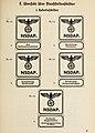 Organisationsbuc00nati 0 orig 0139 ORGANISATIONSBUCH DER NSDAP 1943 Parteigenossen Politische Leiter Uniformen Symbole Seite 40 Dienststellenschilder Hoheitsschilder Public domain CROPPED.jpg
