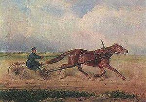 Droshky - Image: Orlov Trotter Krasa in racing droshky by Sverchkov