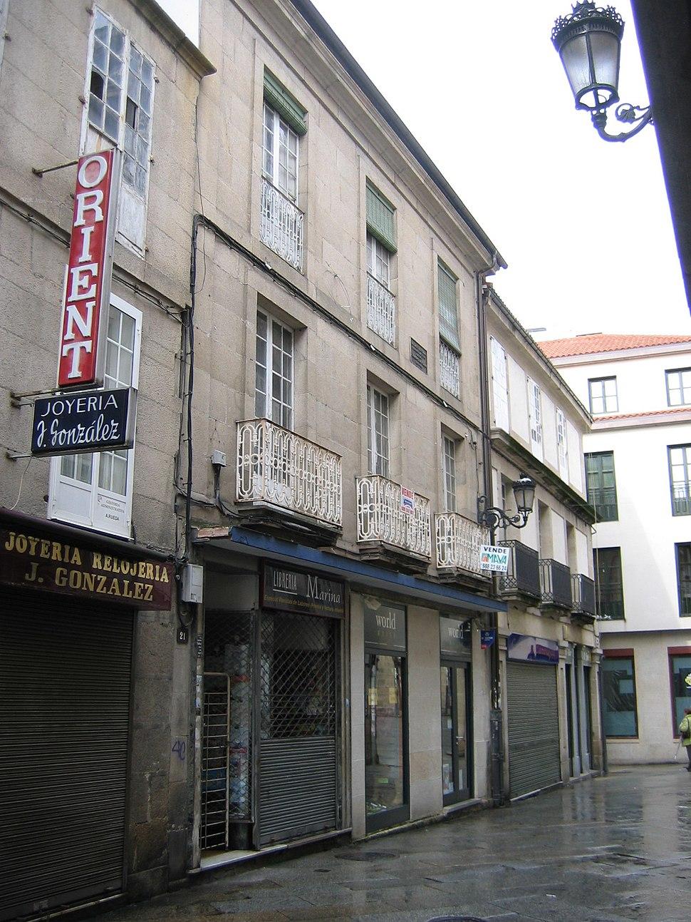 Ourense casa natal Risco-Pedrayo 1