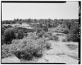 Overall view, from elevated bench, looking south. - Hill Road Pueblito, Carrizo Canyon, Dulce, Rio Arriba County, NM HABS NM,20-DUL.V,6-3.tif