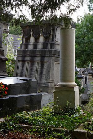 Antoine Beauvilliers - His grave at the Père-Lachaise Cemetery, Paris.
