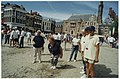 Pétanque toernooi op de onder een laagje zand bedolven grote Markt.JPG