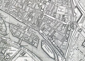 4th arrondissement of Paris - Robert de Vaugondy's map of Paris (4th arrondissement) - 1760