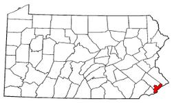 Locatie van Philadelphia