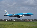 PH-EZE KLM Cityhopper Embraer ERJ-190STD (ERJ-190-100) landing at Schiphol (EHAM-AMS) runway 18R pic2.JPG