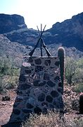 Side view of the monument. PICACHO PASS SKIRMISH SITE.jpg