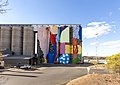 PUBLIC 2015 Northam Silos site-specific mural installation on the CBH Group grain silos curated by FORM funded by FORM and CBH Group in Northam Western Australia by HENSE 1 of 2.jpg