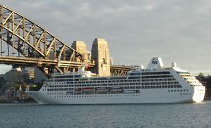 Pacific Princess -  Pacific Princess at Sydney Harbour.