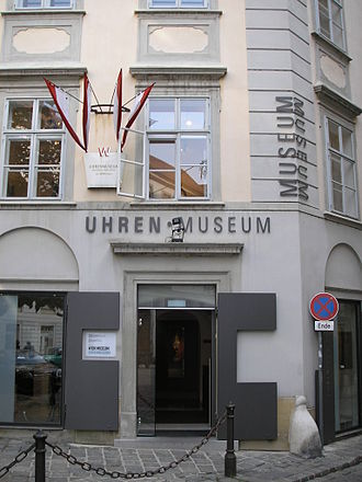 Vienna Museum - Entrance to Clock Museum in Palais Obizzi