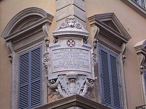 Via Condotti - Detail of Palazzo di Malta, headquarters of the Sovereign Military Order of Malta