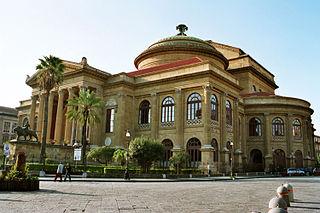 Teatro Massimo opera house in Palermo, Italy