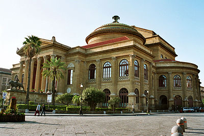 Teatro Massimo, Palermo, biggest theater in Italy and third in Europe