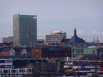 Radisson Blu Royal Hotel, Copenhagen - Image: Panorama Kopenhagen around central station