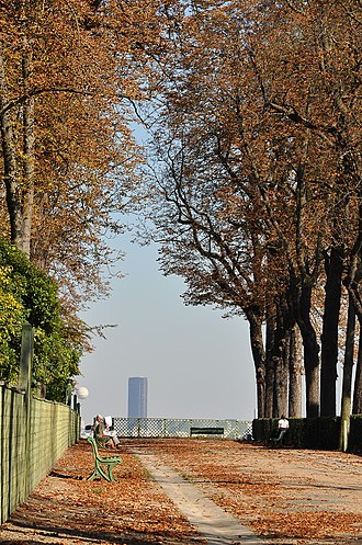 Parc de Saint-Cloud - View with the Montparnasse Tower