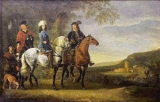Paysage avec trois cavaliers