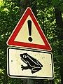 Parsteiner See Amphibienschutzschild.JPG