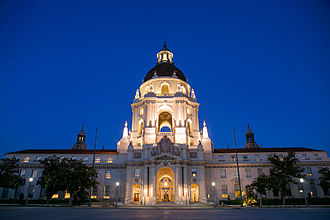 Pasadena City Hall - Lit at night