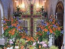 Il Santo Sepolcro della Chiesa di San Giovanni Battista dove viene adagiato il corpo di Cristo il Venerdì Santo