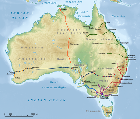 Australia Travel Guide At Wikivoyage - Australia continental map