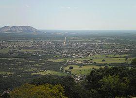 Vista panorâmica de Patu a partir da Serra do Lima