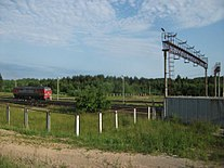 Pechory railway station border.JPG