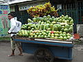 Pedagang buah pepaya jambu Jakarta.JPG