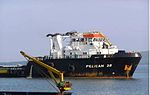 Pelican 28 Supply Boat arrival - with a bang.jpg