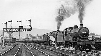 Penrith railway station - Just south of Penrith station in 1951.